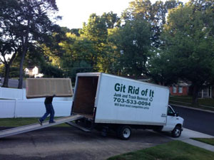 Large Truck Debris Removal 20 Cubic Yard Vehicle